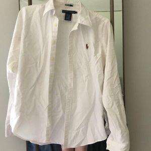 Women's white Polo button down shirt